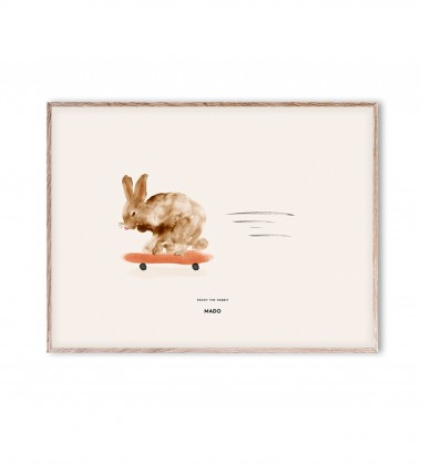 Poster 30x40 ROCKY THE RABBIT by Mado