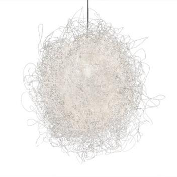 Lampa wisząca z drucików PILI LARGE 55 cm Biała