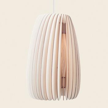 Drewniana lampa wisząca SECUNDUM LAMP 25xH38 White Cable