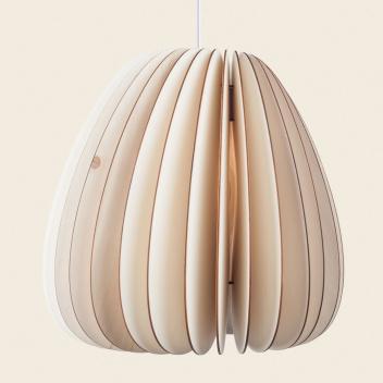 Drewniana lampa wisząca VOLUM LAMP 36xH43 White Cable