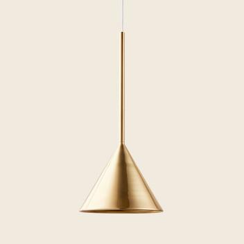 Lampa wisząca FIGURA CONE LAMP 16,5 x 45 Mosiądz