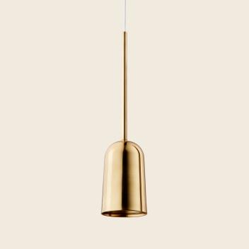 Lampa wisząca FIGURA ARC LAMP 10 x 45 Mosiądz