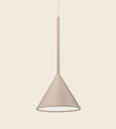 Lampa wisząca FIGURA CONE LAMP 16,5 x 45 Piaskowa