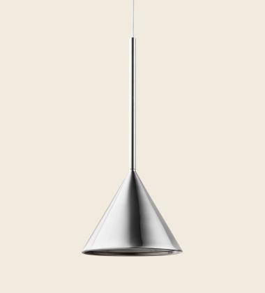 Lampa wisząca FIGURA CONE LAMP 16,5 x 45 Chrom