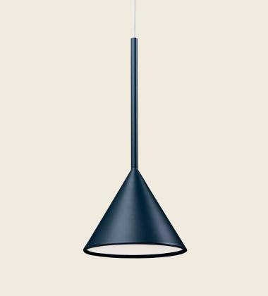 Lampa wisząca FIGURA CONE LAMP 16,5 x 45 Granatowa