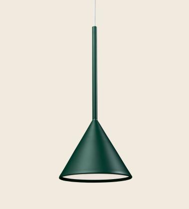 Lampa wisząca FIGURA CONE LAMP 16,5 x 45 Zielona