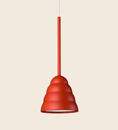 Lampa wisząca FIGURA STREAM LAMP 16,5 x 45 Koralowa