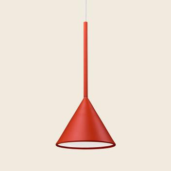 Lampa wisząca FIGURA CONE LAMP 16,5 x 45 Koralowa