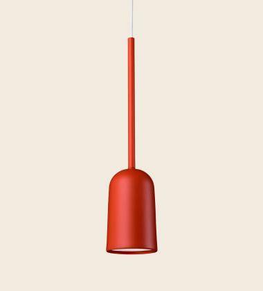 Lampa wisząca FIGURA ARC LAMP 10 x 45 Koralowa