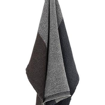 Ręcznik Terva 65x130 Czarno-Multi-Niebieski
