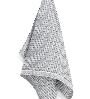 Ręcznik lniany LAINE 48x85 Szaro-Biały