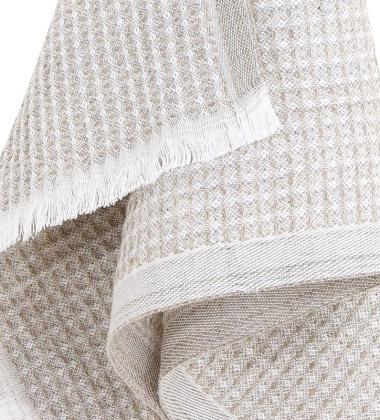 Ręcznik lniany LAINE 48x85 Biało-Lniany