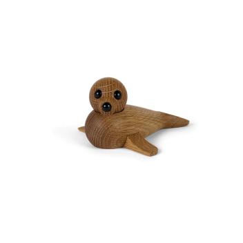 Drewniana foczka BABY SEAL 6x12,7 Dąb