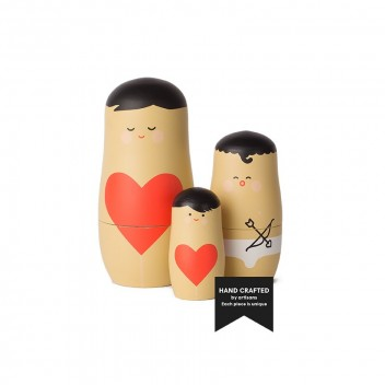 Laleczki drewniane matrioszki Set 3 Expressions LOVE