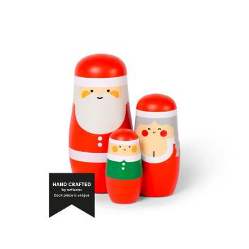 Laleczki drewniane matrioszki Set 3 Expressions CHRISTMAS