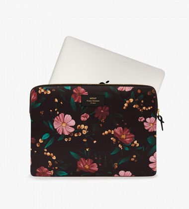 Etui na Laptopa 13-inch MacBook BLACK FLOWERS