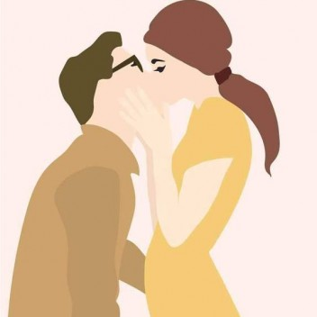 Poster 50x70 THE KISS By ViSSEVASSE