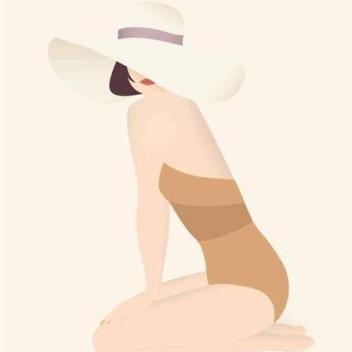 Poster 50x70 SUMMER GIRL By ViSSEVASSE