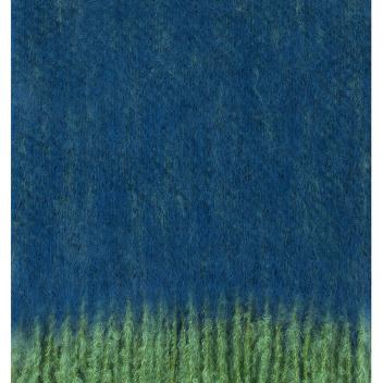Koc REVONTULI Mohair 130x180 Zielono-Granatowy
