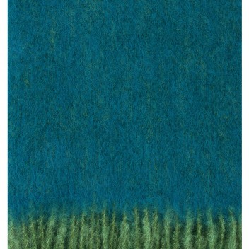 Koc REVONTULI Mohair 130x180 Zielono-Morski