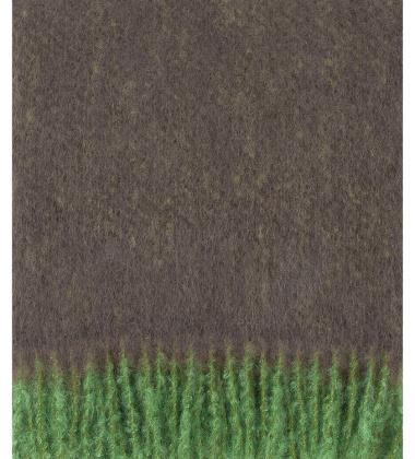 Koc REVONTULI Mohair 130x180 Zielono-Brązowy