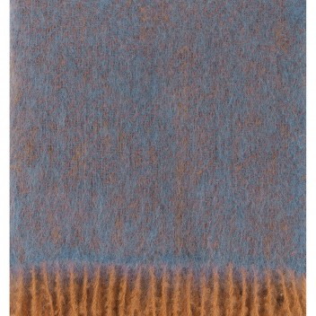 Koc REVONTULI Mohair 130x180 Rdzawo-Niebieski