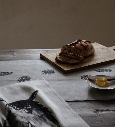 Ścierka kuchenna HUUHKAJA X Teemu Jarvi 46x70 Biało-Czarna