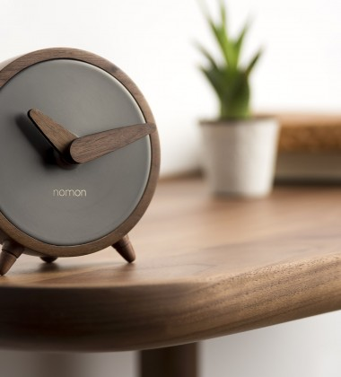 Zegarek drewniany ATOMO Sobremesa G Walnut-Black