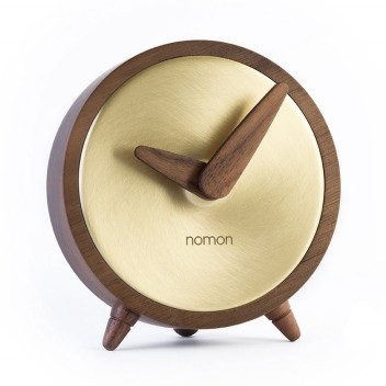 Zegarek drewniany ATOMO Sobremesa T Walnut-Brass
