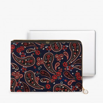 Etui na Laptopa welurowe 13-inch MacBook BLUE PAISLEY