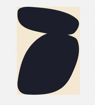 Poster 50x70 SOLID SHAPES 03 By Nina Bruun