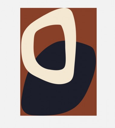 Poster 50x70 SOLID SHAPES 02 By Nina Bruun