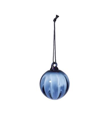 Mouth Blown Christmas Glass Ball 6 cm Blue