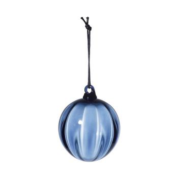 Mouth Blown Christmas Glass Ball 8 cm Blue