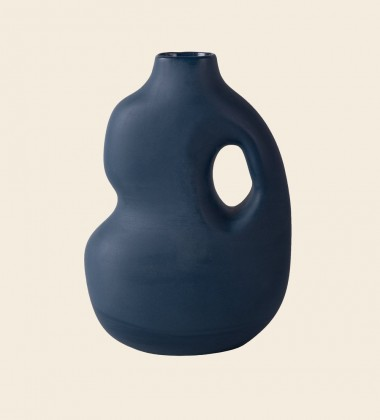 Wazon 23x20x8 cm AURA VASE 2 Midnight Blue