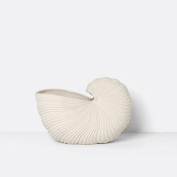 Misa ceramiczna muszla 31x21x15 SHELL POT Kremowa