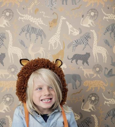Tapeta z wzorem zwierząt SAFARI 53x1000 cm