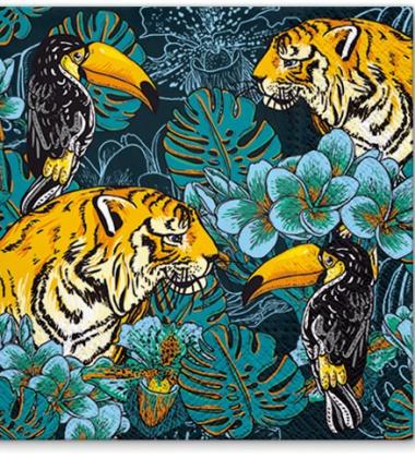 Serwetki papierowe dżungla 33x33 TAT Wild Nature