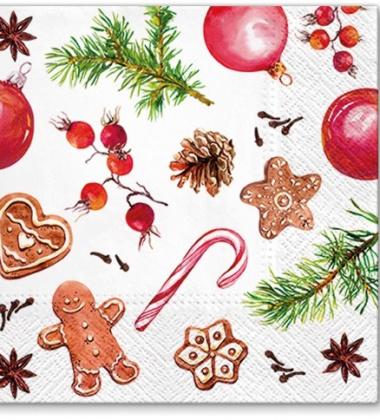 Serwetki papierowe świąteczne 33x33 TAT Homemade Sweets