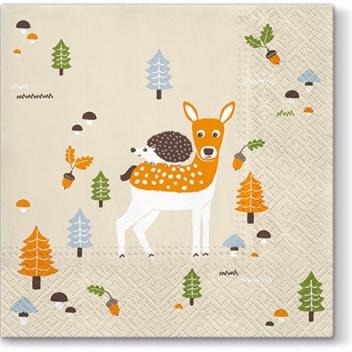 Serwetki papierowe jesień 33x33 TAT Autumn Friends