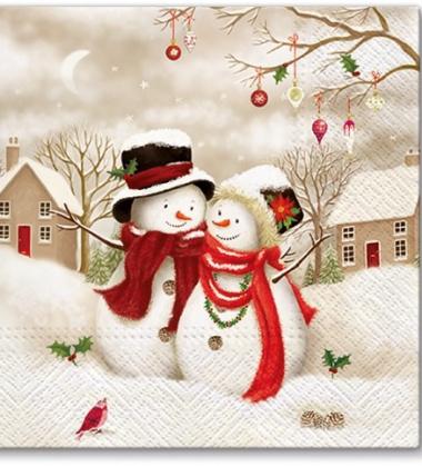 Serwetki papierowe świąteczne 33x33 TAT Snowy Family