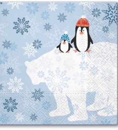 Serwetki papierowe świąteczne 33x33 TAT Winter Friends