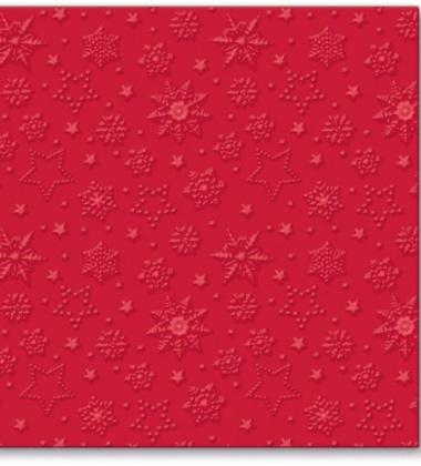 Serwetki papierowe świąteczne 33x33 TAT Inspiration Winter Flakes Red