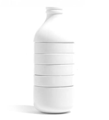 Komplet kawowo-herbaciany z porcelany WITHMILK Biały