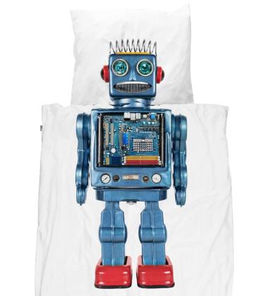 Pościel bawełniana z robotem 140x200 ROBOT