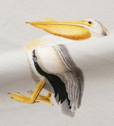 Pościel bawełniana w pelikany 140x200 PELICAN