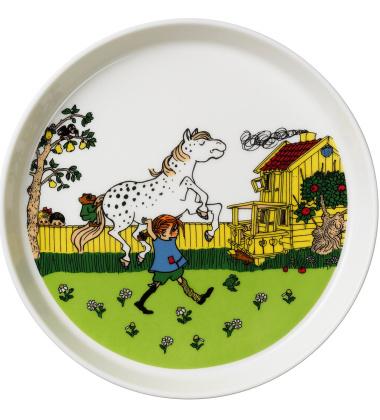 Talerz z porcelany 19 cm Pippi Moves In