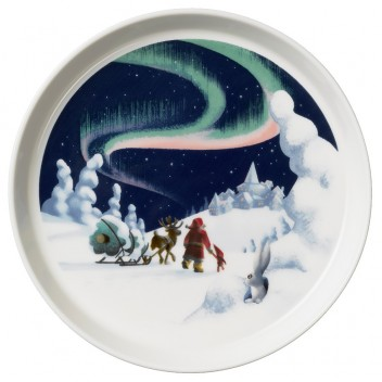Talerzyk z porcelany Santa Claus 19cm Northern lights