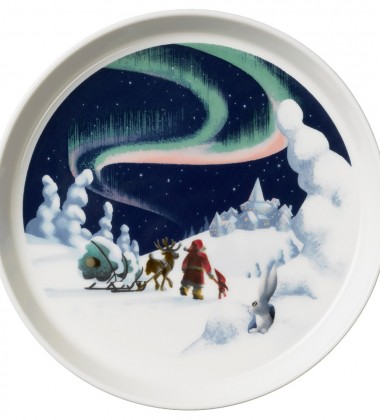 Talerzyk z porcelany 19 cm Santa Claus NORTHERN LIGHTS