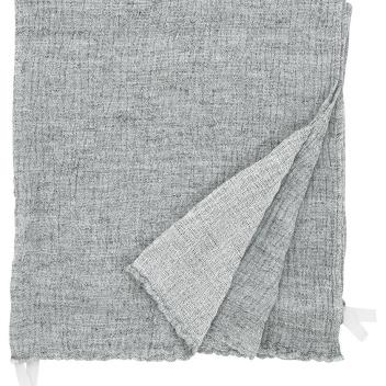 Ręcznik z gniecionego lnu NYYTTI 38x38 Biało-Szary